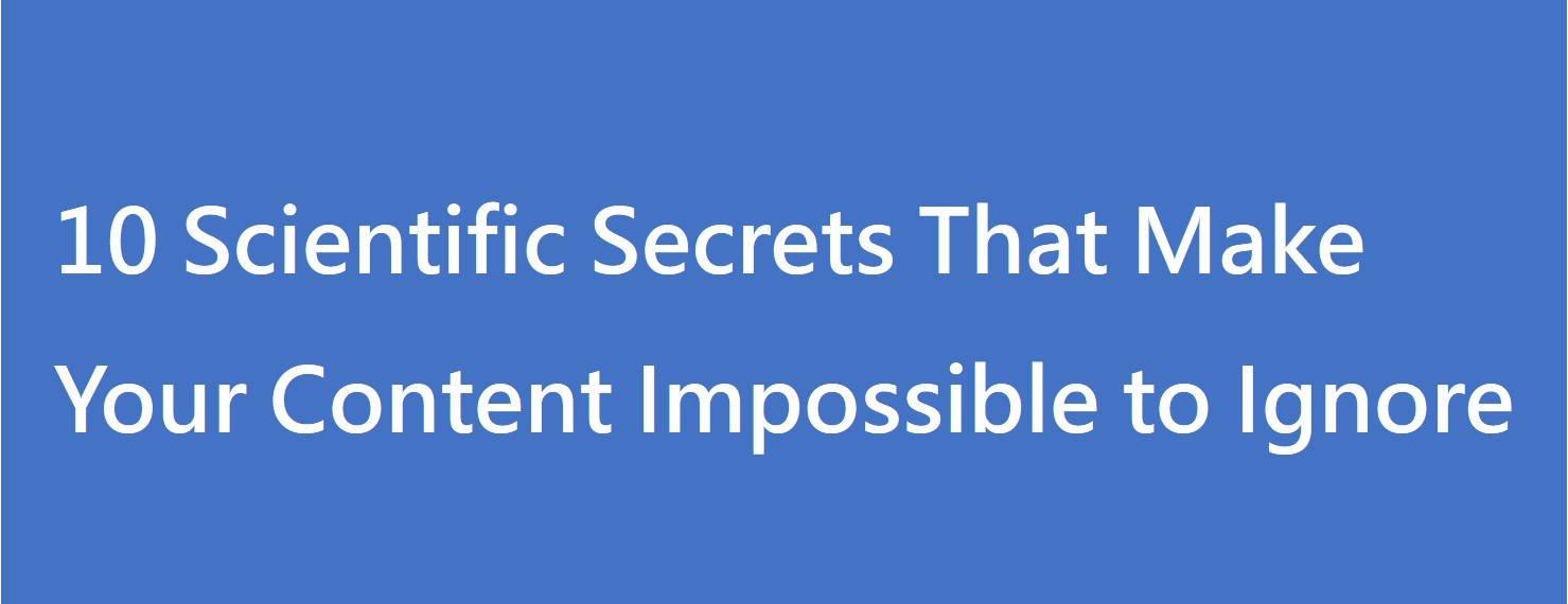 Read more about the article 10 個不讓內容被人忽略的科學秘密(Hubspot INBOUND 2020 筆記)